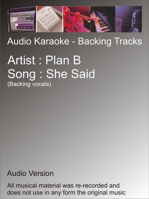 Product picture Plan B - She Said - Karaoke
