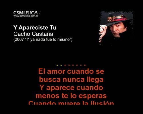 Product picture Cacho Castaña, Y apareciste tu, karaoke