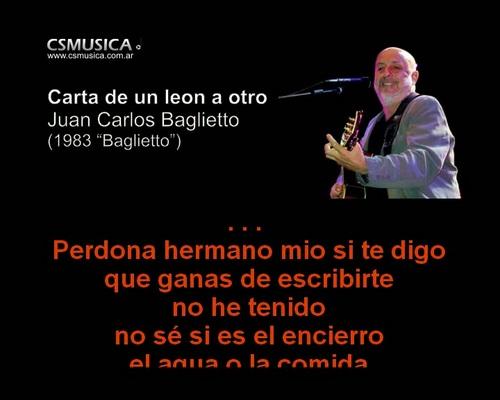 Product picture Juan Carlos Baglietto - Carta de un leon a otro - karaoke