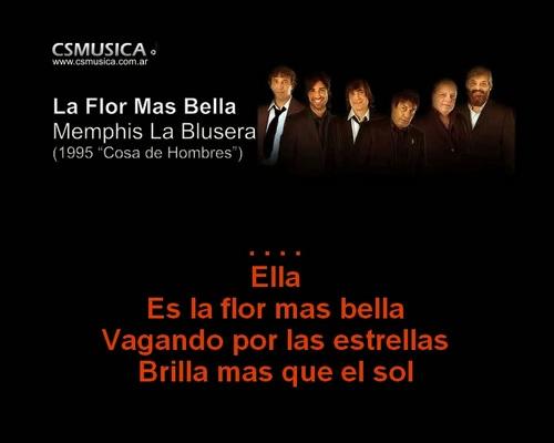Product picture Memphis la Blusera - La Flor mas bella - karaoke