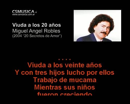 Product picture Miguel Angel Robles - Viuda a los 20 años - VideoKaraoke